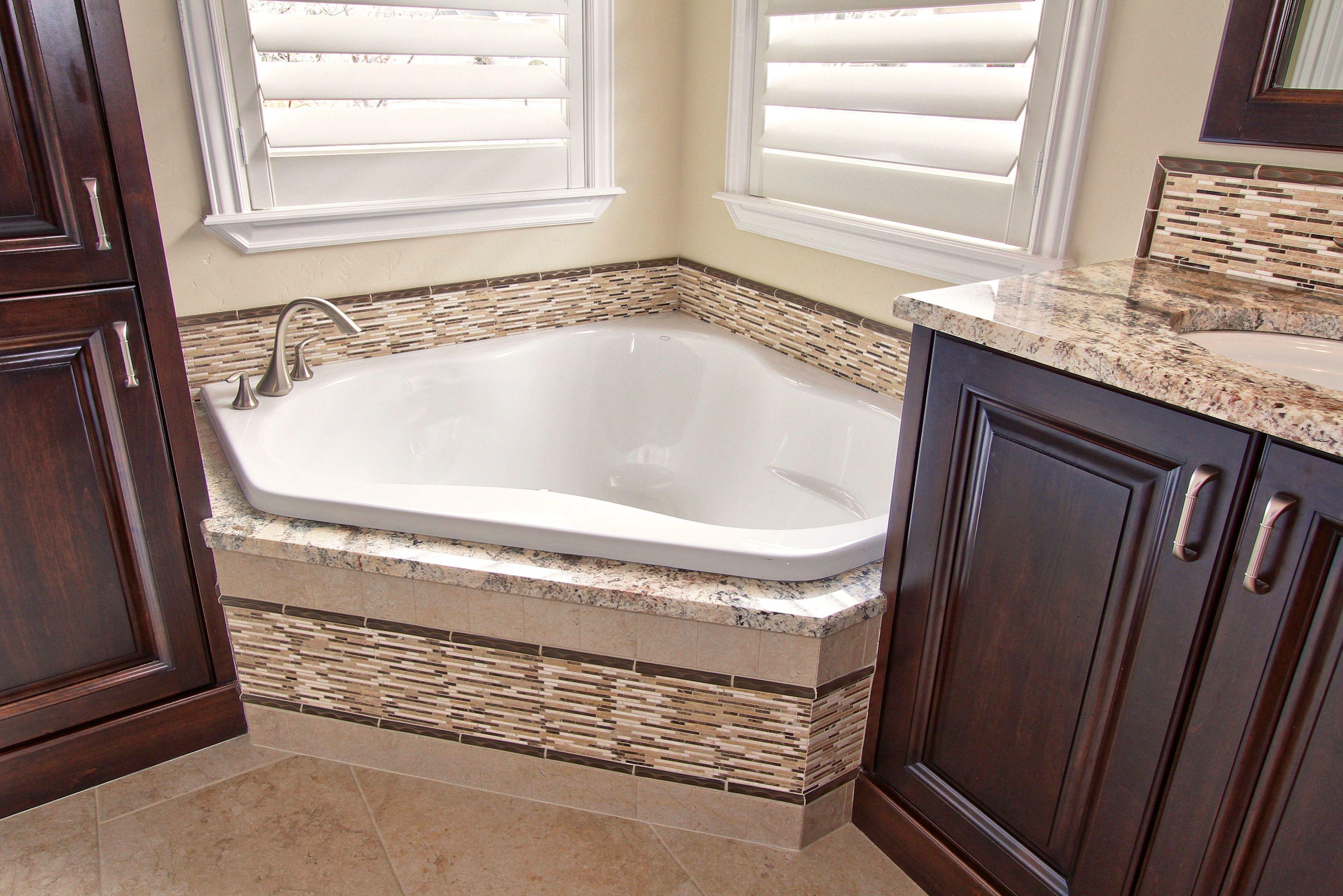 - Close Up Of The Tub #tub #bathroom #tile #traditional #gardentub