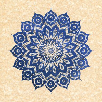 Blue mandala https://www.facebook.com/pages/Healthy-Vibrant-You/381747648567846