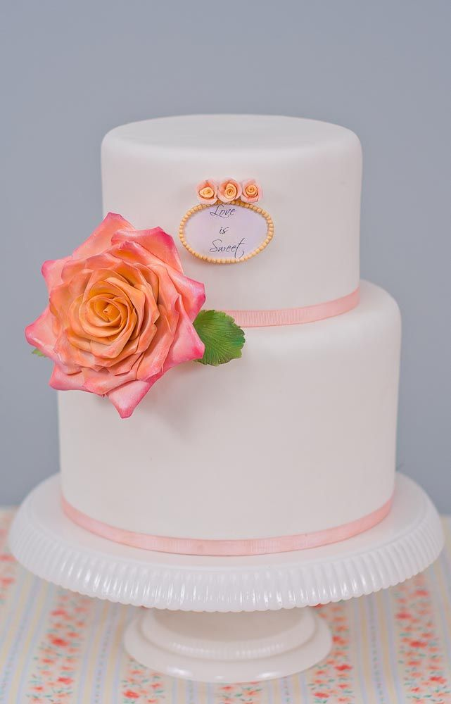 Love is Sweet Cake by Erica OBrien Cake Design