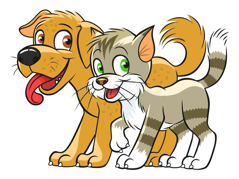 Cute Cat And Dog Illustration Of Smiling Cartoon Cat And Dog Look Similar Pets Ad Dog Illustra Cartoon Dog Drawing Cute Cats And Dogs Cute Cats Photos
