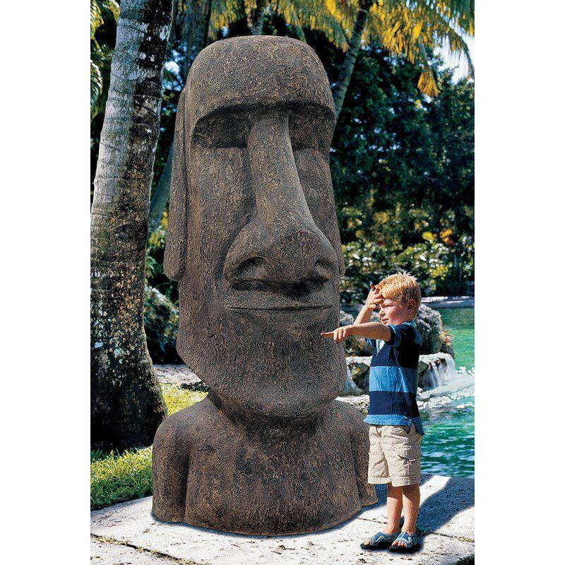 Design Toscano Easter Island Ahu Akivi Moai Monolith Garden Statue   NE90076