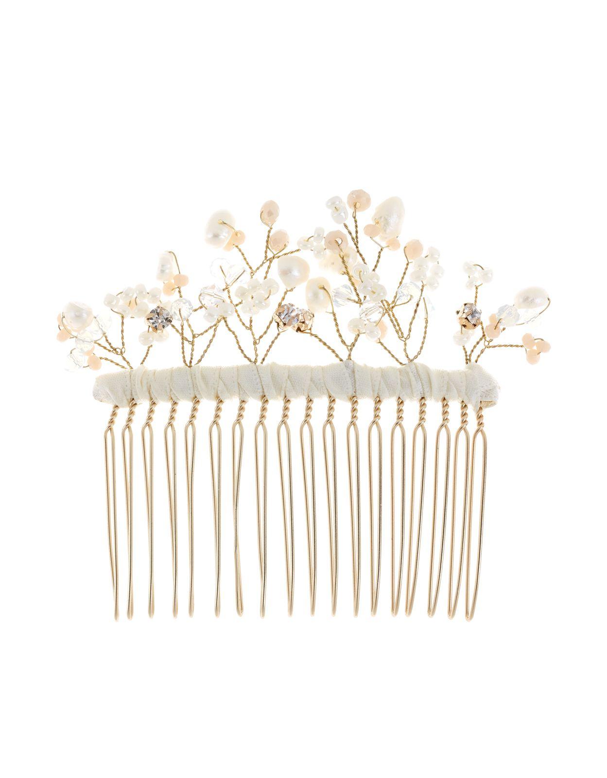 delicate wire bridal hair comb | clear | accessorize