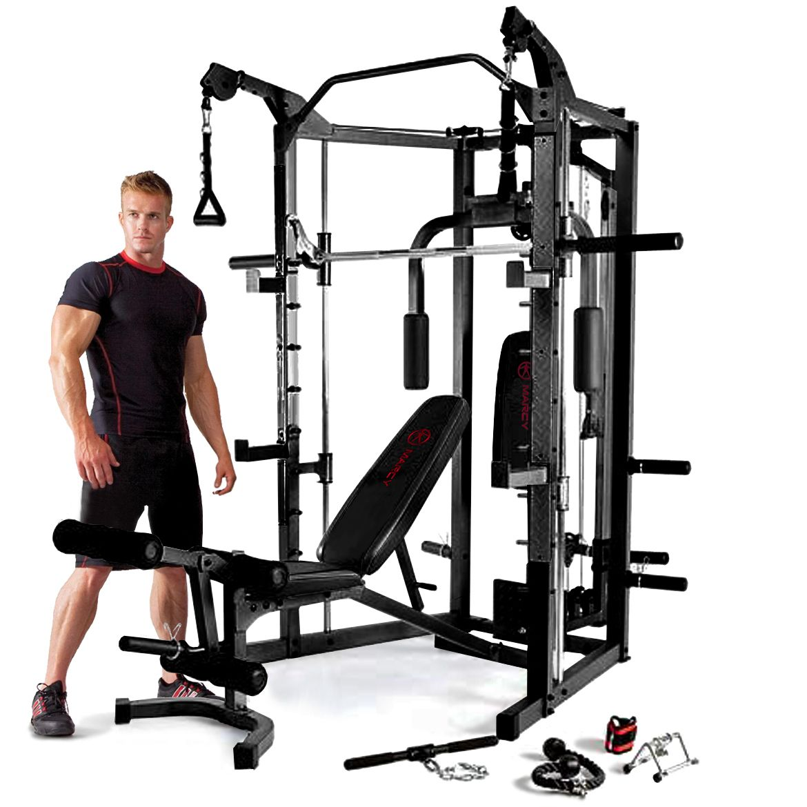 Marcy eclipse rs deluxe smith machine home gym with