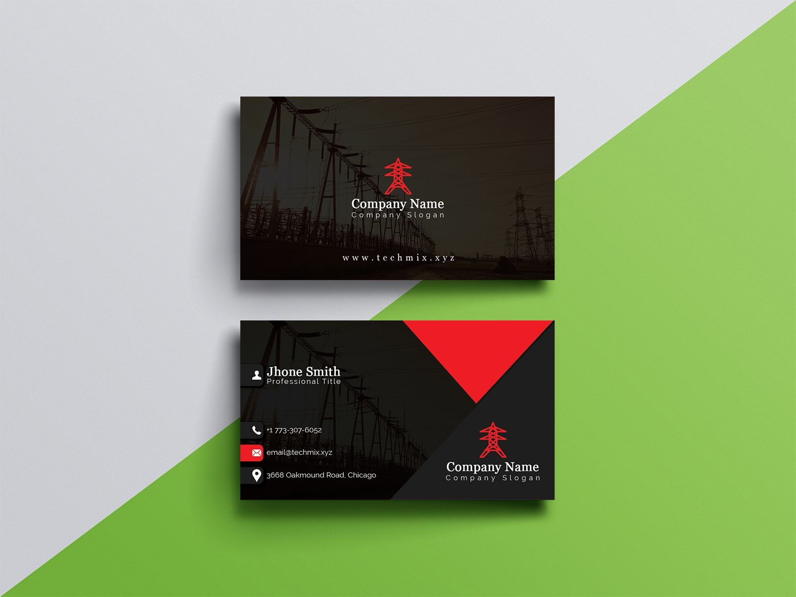 Electrical Engineer Business Card Business Card Template Design