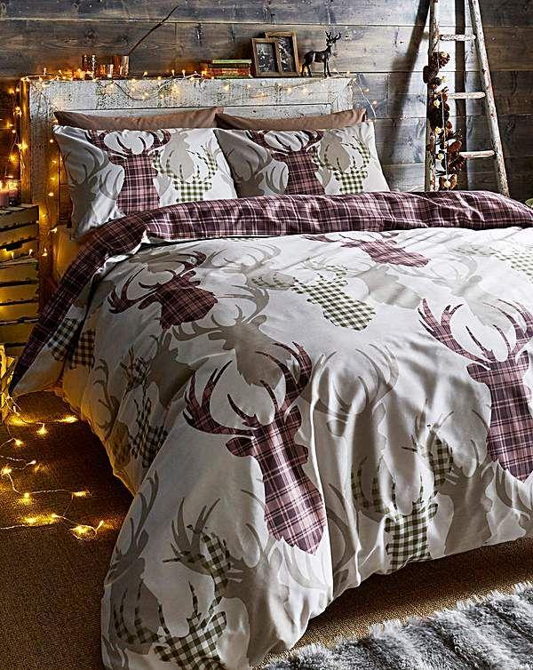 a0666e00f2b4 Tartan Stag Natural Duvet Cover Set in 2019 | Home sweet home ...