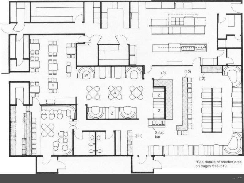 Restaurant Floor Plan Layout With Kitchen Layout Included