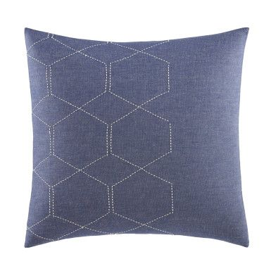 Broadwater Ombre Pieced Throw Pillow Ice Blue Decor Impressive Ice Blue Decorative Pillows