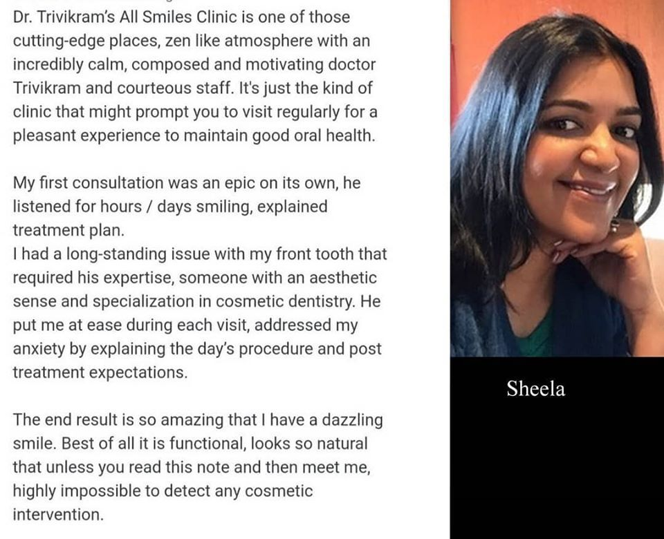 Happy to share the appreciation from ms sheela after