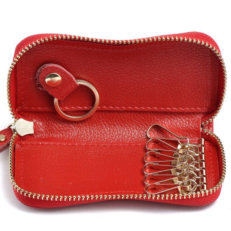 Genuine Leather Car Key Holder Hanging Portable Keychain Covers Pouch Purse Key Bag Car Key Holder Key Bag Coin Bag