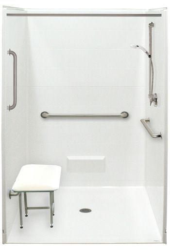 Bathroom Handicap Stalls freedom accessible showers | barrier free showers | handicap