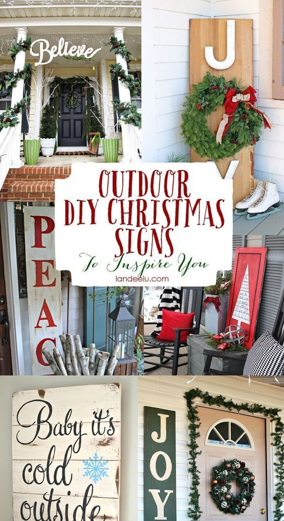 Outdoor christmas sign ideas outdoor christmas decoration and diy outdoor christmas sign ideas pretty and fun do it yourself porch and outdoor christmas decorations youll love solutioingenieria Image collections
