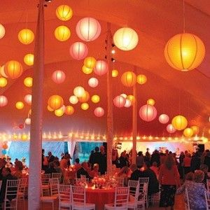 inside tent lanterns