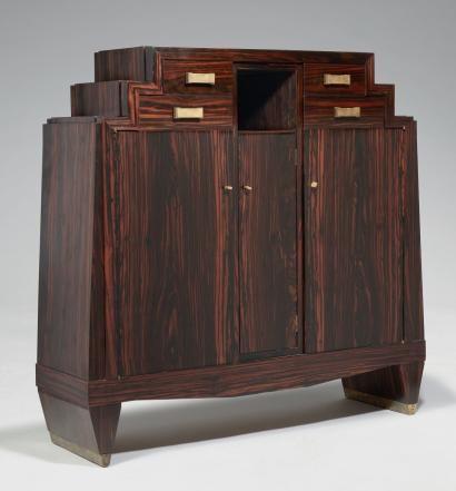 Ventes Aux Encheres Paris Andre Sornay 1902 2000 Meuble D Appui De L Exposition De 1925 Meuble A Gr Interieur Art Deco Meubles Art Deco Art Deco