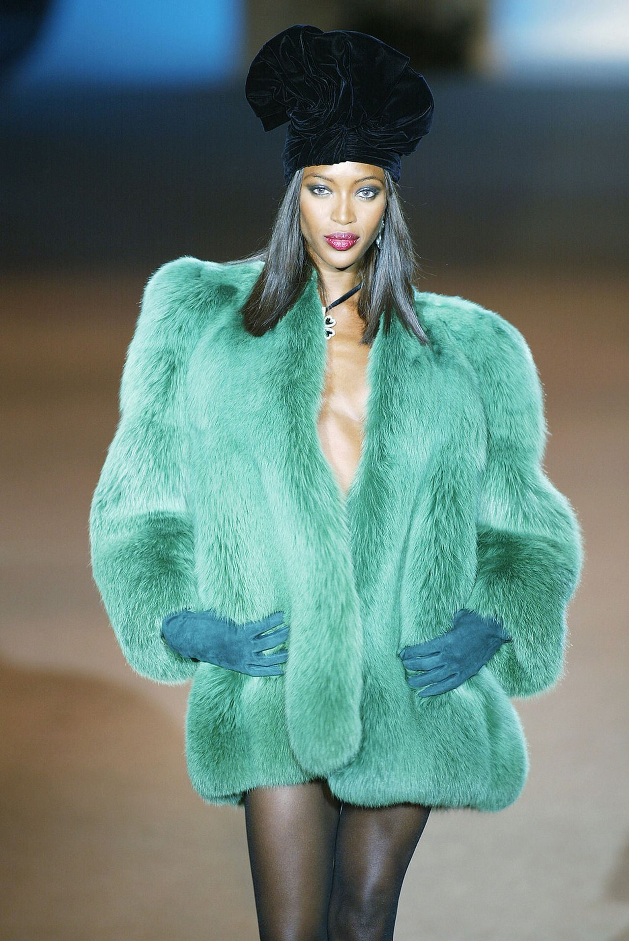39e154c7604 Naomi Campbell on the runway for Yves Saint Laurent. | On the Runway ...