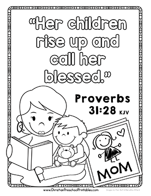 Free Mothers Day Bible Verse Coloring Pages Crafts Games Activities And More