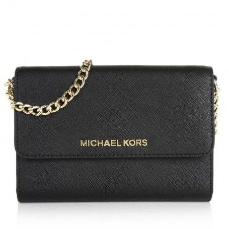 65058ad6567d50 Michael Kors Tasche – Jet Set Travel LG Phone Crossbody Black – in schwarz  – Umhängetasche für Damen
