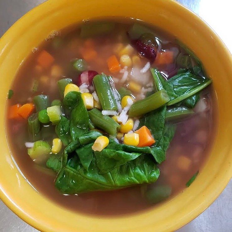 Craving soup on this chilly damp Fall day?  Enjoy a bowl of our vegetable rice florentine. It's vegetarian and organic.