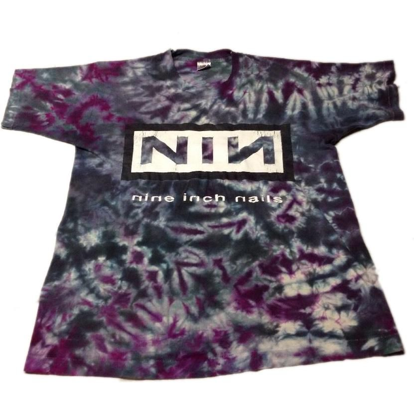 Nine Inch Nails Tie Dye T-Shirt as seen on Rihanna | Rihanna, Band ...