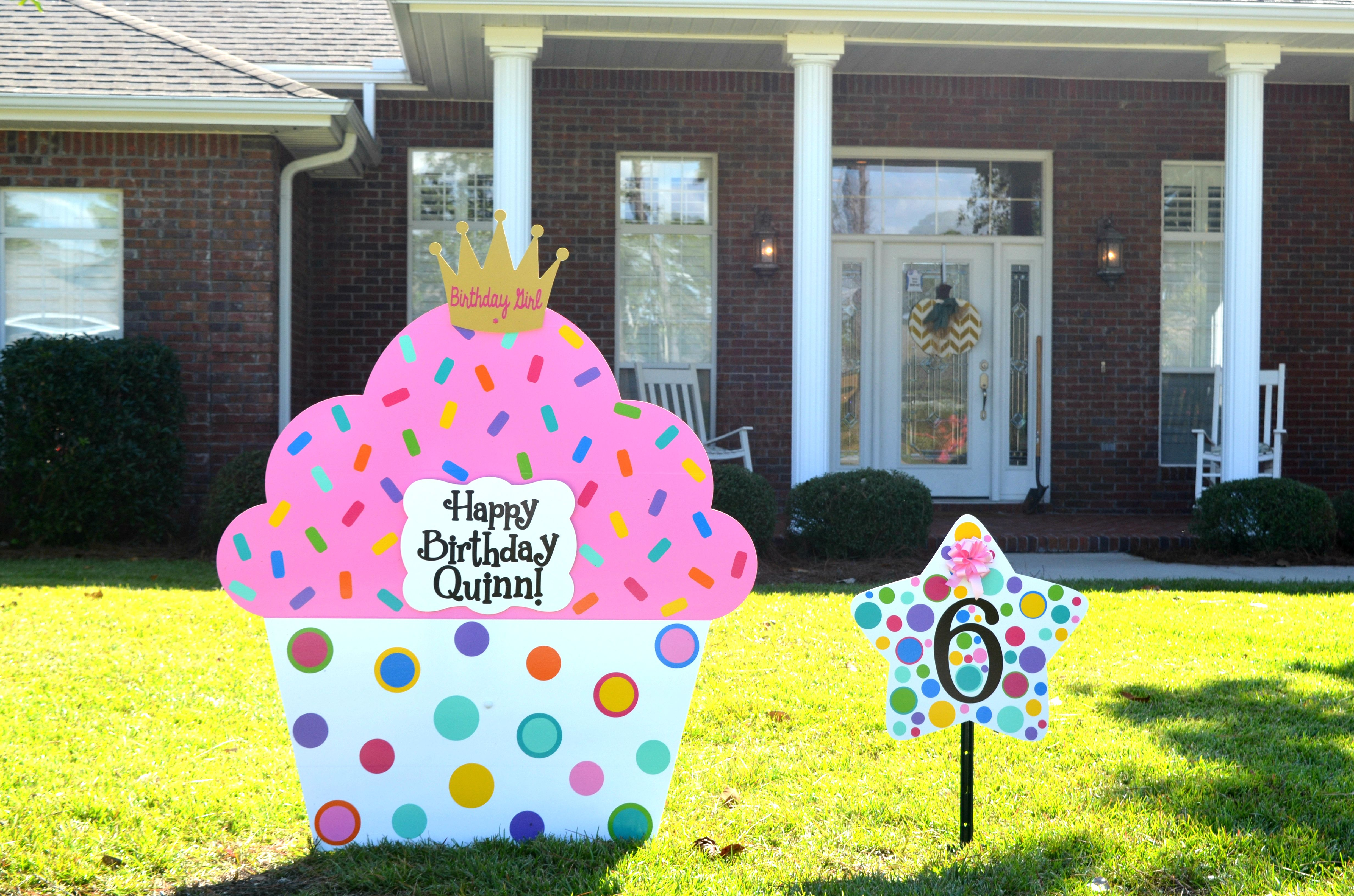 Birthday Cake Birthday Cake Yard sign Destin, Fl Birthday