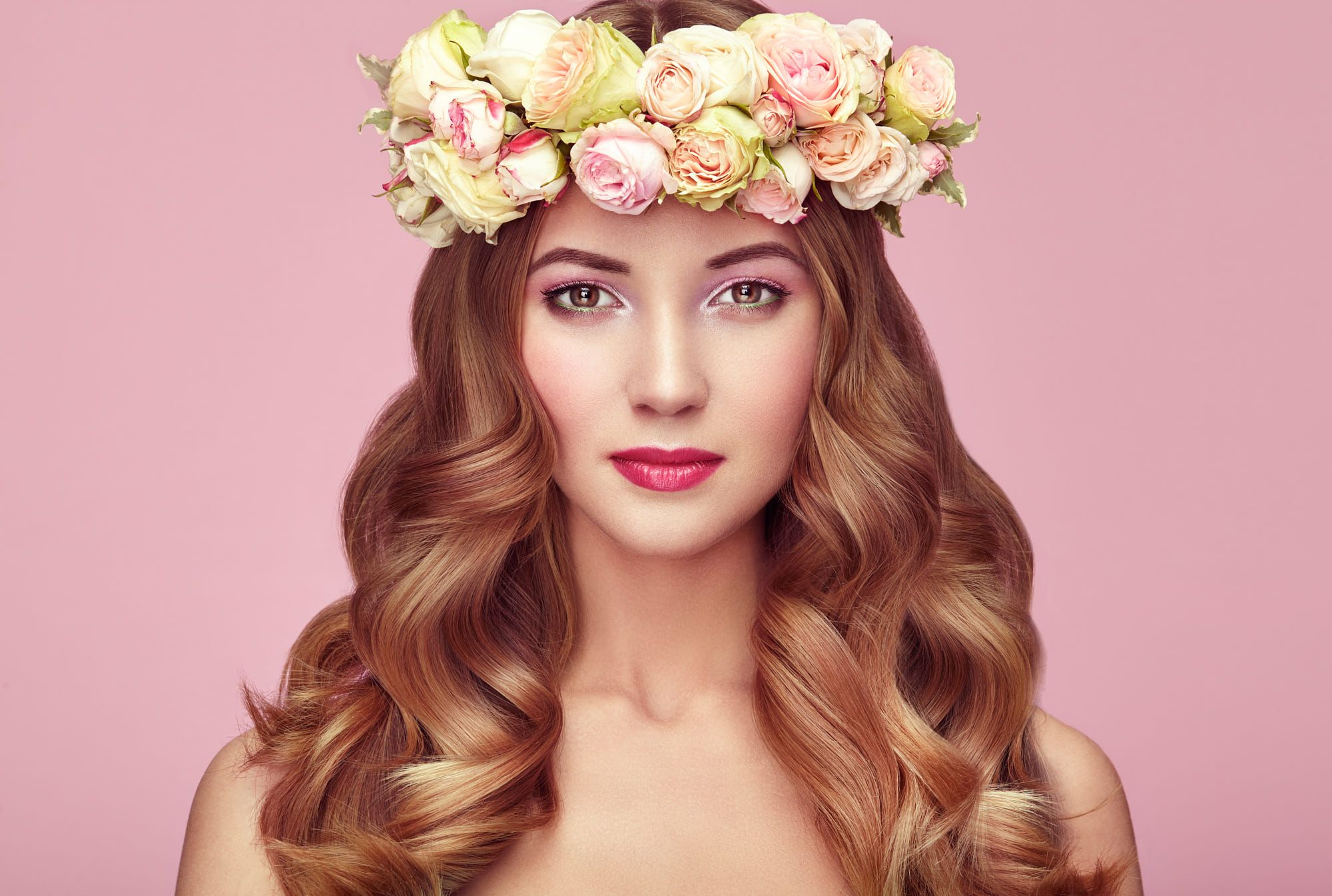 Beautiful blonde woman with flower wreath on her head by oleg gekman beautiful blonde woman with flower wreath on her head by oleg gekman on 500px izmirmasajfo