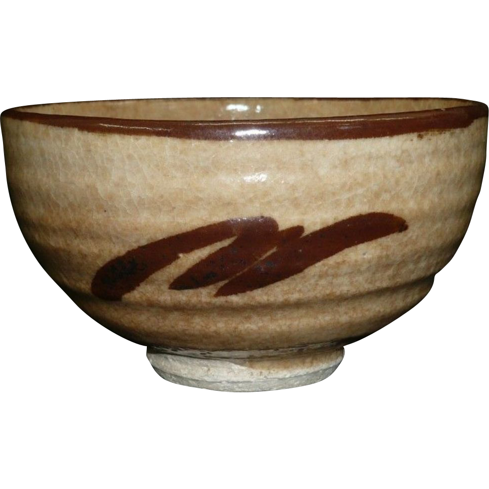 Japanese Antique Karatsu Pottery Tea Bowl