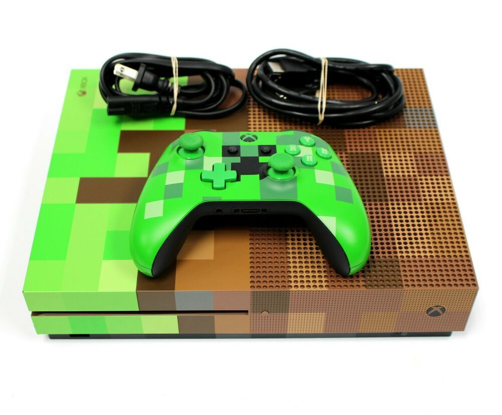 Microsoft XBOX ONE S 11TB MINECRAFT EDITION Gaming Console w