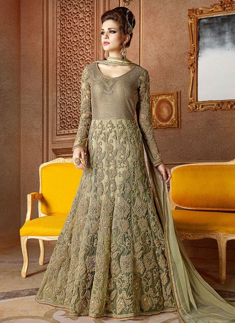 Shop online green net longlengthsalwarsuit chennaistore