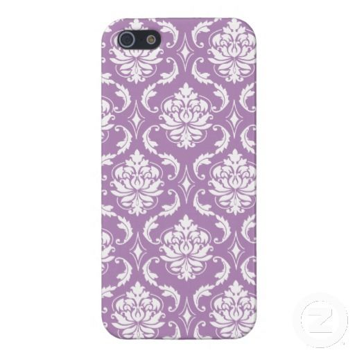 Light Purple Vintage Damask Pattern iPhone 5 Cover