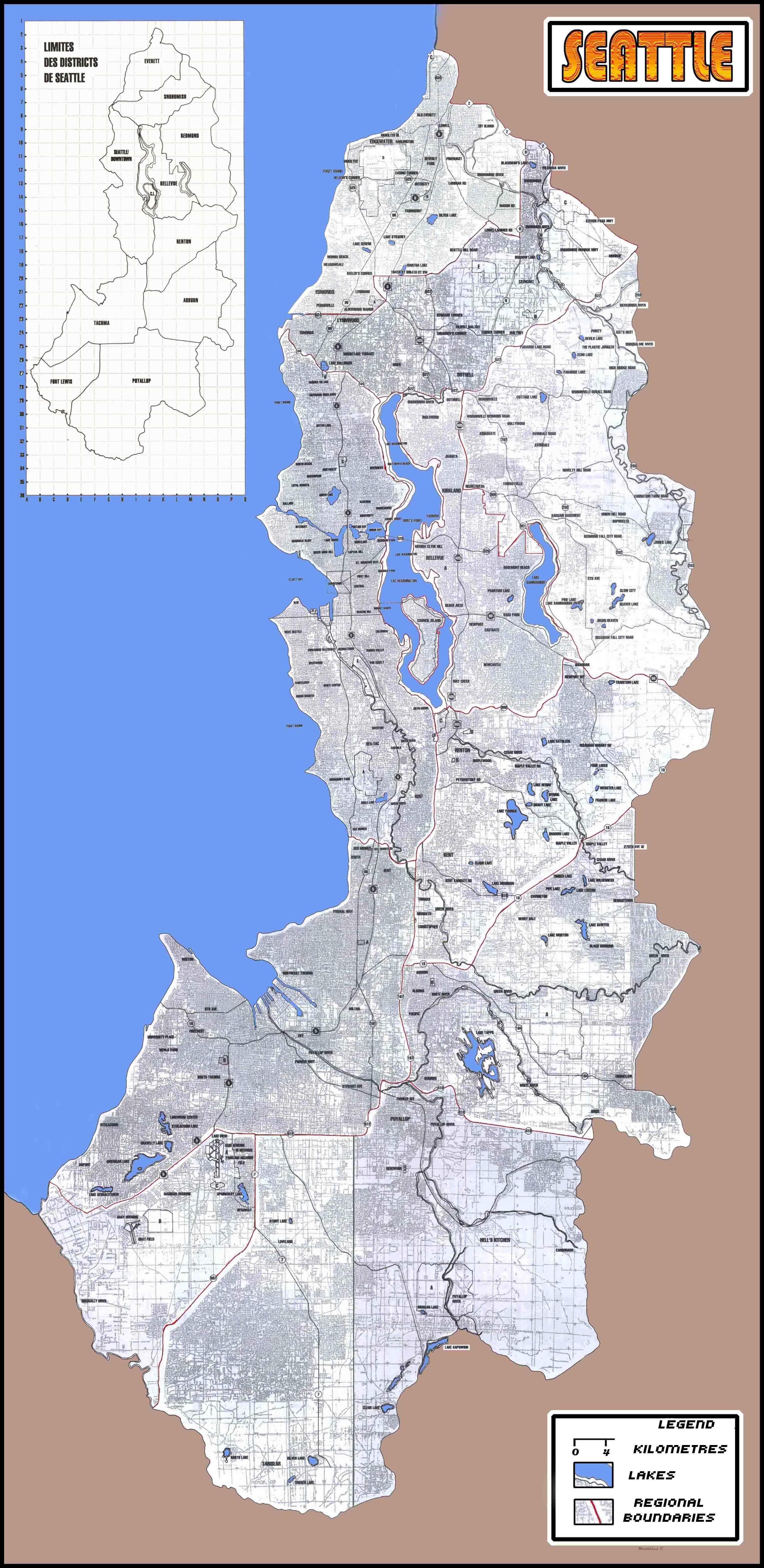 Seattle map | Shadowrun in 2019 | Karten und Grundriss