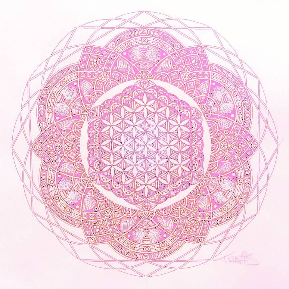 Lotus Mandala Flower Of Life Sacred Geometry Sacred Geometry 3