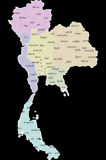 ประเทศไทยออกเป น 6 ภาค โดยใช เกณฑ ด านภ ม ศาสตร แผนท แผนท โลก ภ ม ศาสตร