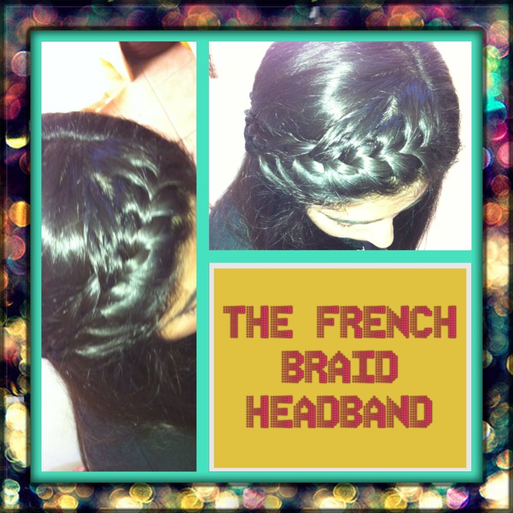 My first time trying the french braid headband its much easier on