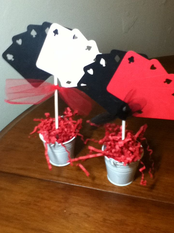 Night Centerpiece Ideas : Casino party theme blackjack miniature