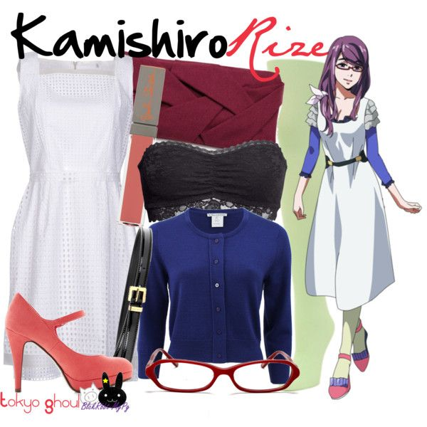 Casual cosplay of Rize Kamishiro (from Tokyo Ghoul anime series)-- character  inspired outfit