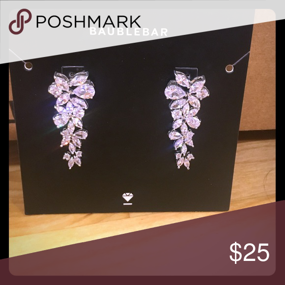 Baublebar Earrings Never been worn bud cubic zirconia drop earrings. Purchased for my wedding but went with another style. Originally $52. Baublebar Jewelry Earrings