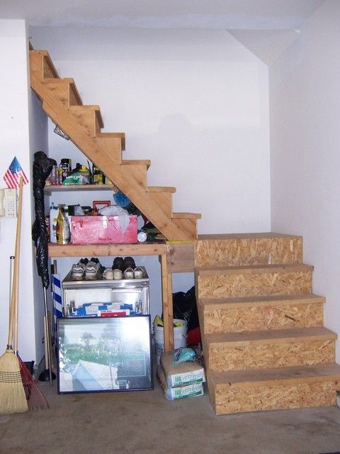 Good Garage Stairs To Attic | Garage And Walk Up Attic: Stairs To Walk