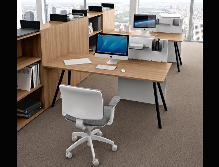 Mobili Per Ufficio Della Rovere : Upper panama office task desk ekompi della rovere office desk