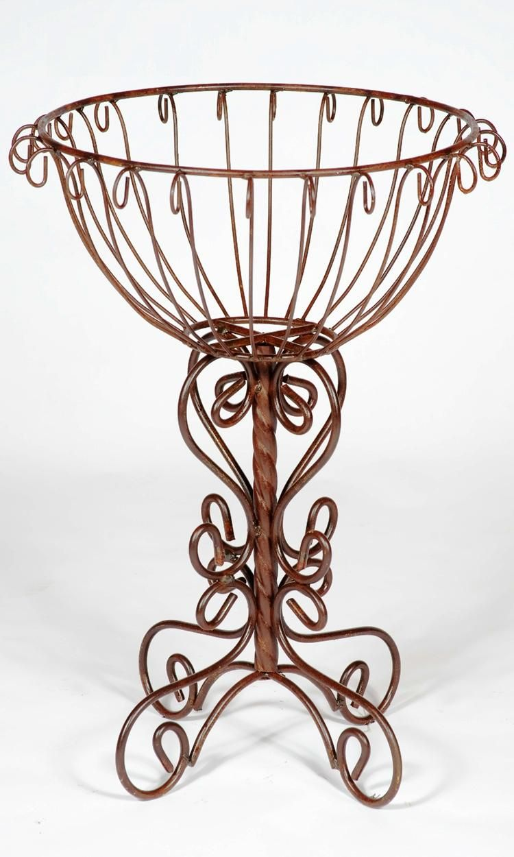 Metal Hanging Plant Stand Part - 26: Vintage Iron Plant Stand | Wrought Iron Trunk Colum Plant Stand - Pot  Holder In 2
