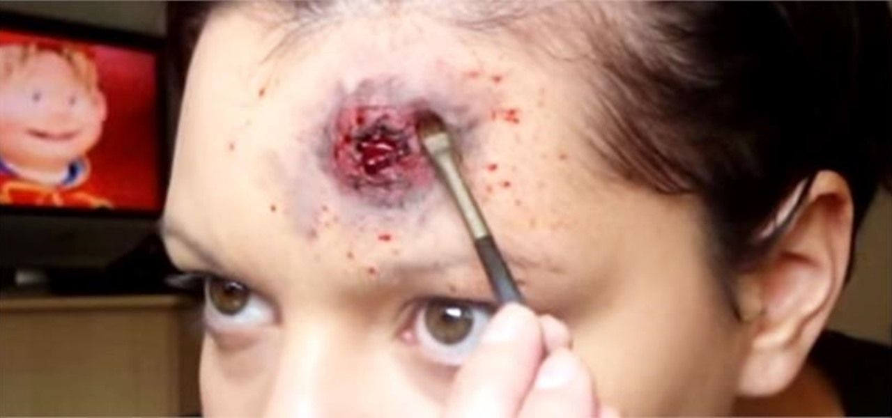 How To Make A Fake Bullet Wound On Your Head Halloween Makeup How To Make Zombie Halloween