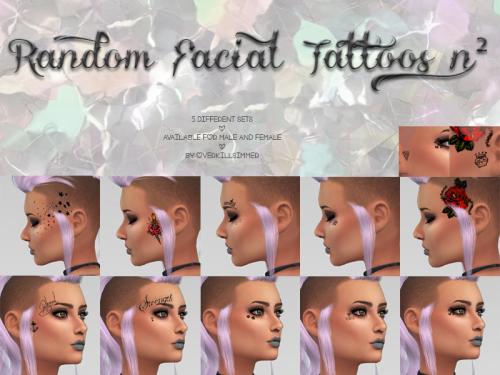 Overkill Simmer   Facial tattoos, Sims 4 cc, Male