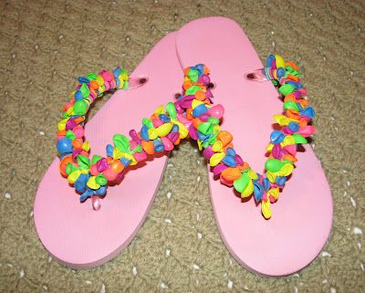 "My jazzed-""UP"" flip flops.  Now I know what that little old man from the movie should have done with all those danged balloons he had tied to his house."
