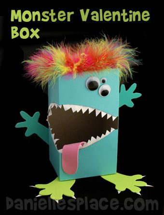 Monster Tissue Box Valentines Day Box Craft Kids Can Make from