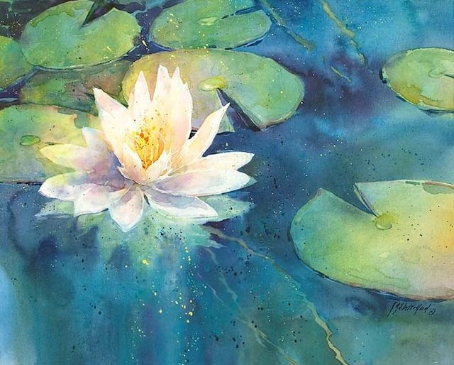 Wet On Wet Oil Painting Lily Pads