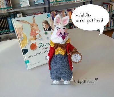 Crochepatyfil créations: suite sur le theme d 'Alice, le lapin blanc amigur...
