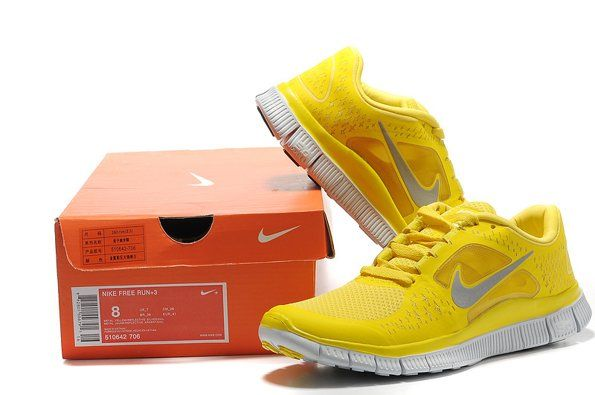 half off bbb04 1ed79 Nike Free 5.0 V3   Womens Running Shoes   Yellow Silver Next investment. I  am in love with yellow running shoes.