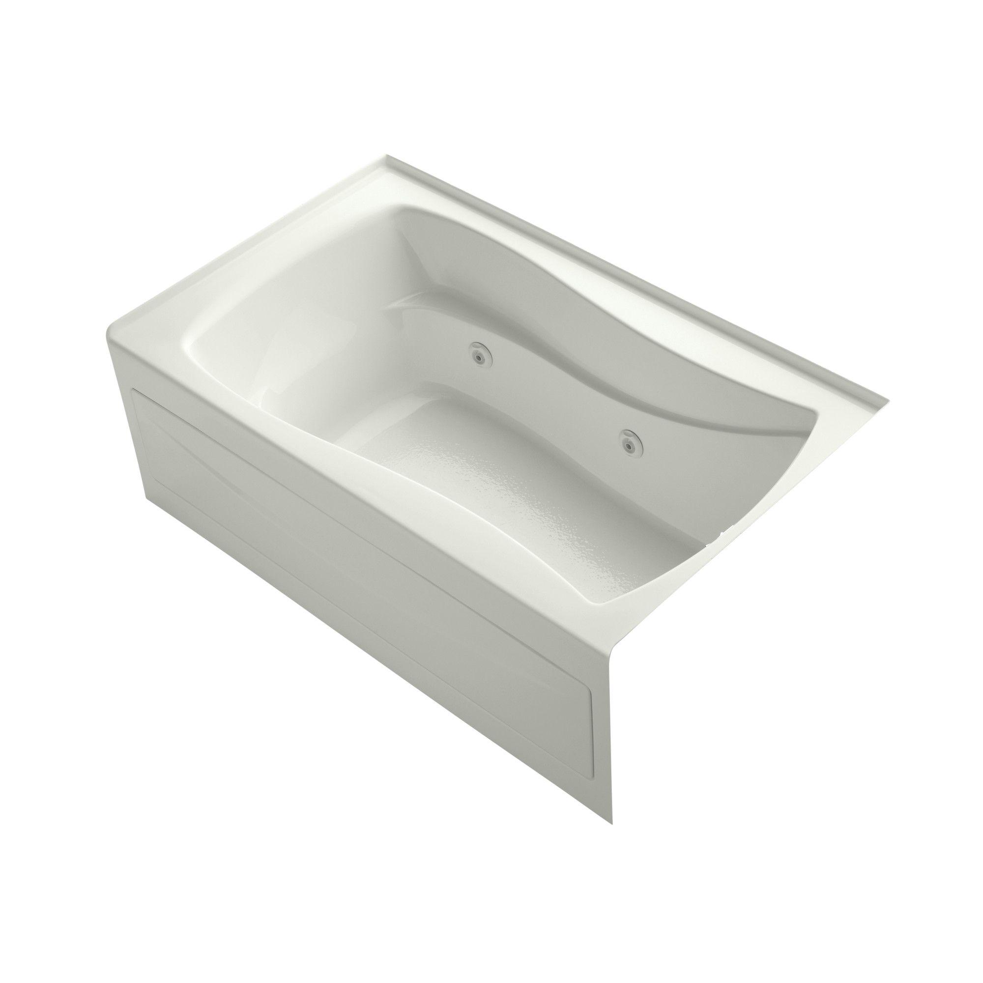 "Mariposa Alcove 60"" x 36"" Whirpool Bathtub"