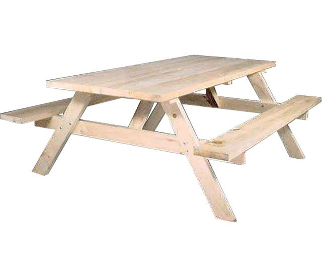 5u0027 Spruce Picnic Table   Our Separate Bench Style Picnic Tables Are Made Of  Solid