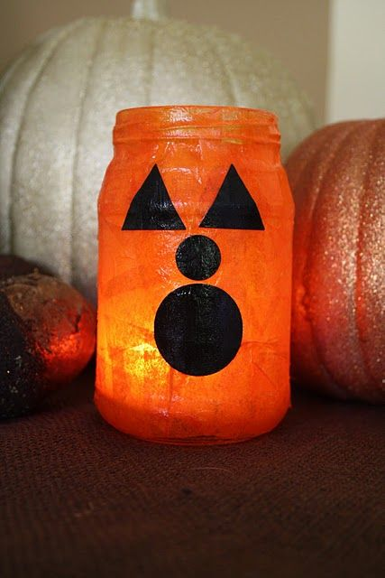 Mod Podge pumpkinsidea for kids halloween party Spooktacular