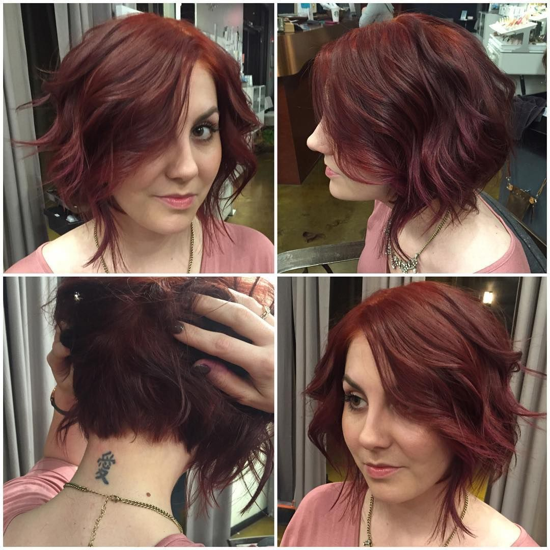 Bob Haircut With Unique Back View Make Your Hair Lightweight And Gorgeous With A Slightly Layered Bob That Medium Bob Hairstyles Hair Styles Medium Short Hair