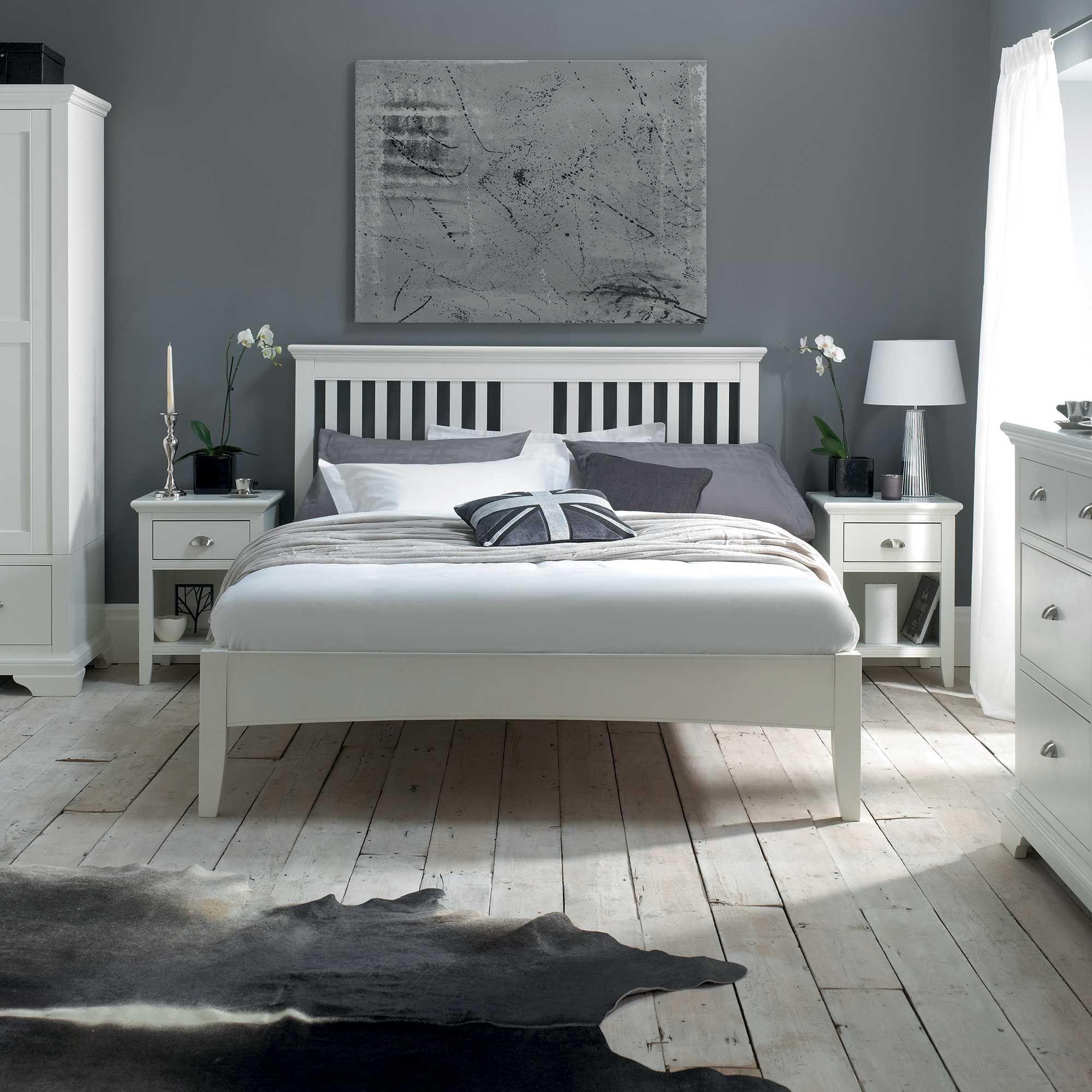 Carrington white chest of drawers 4 drawer barker